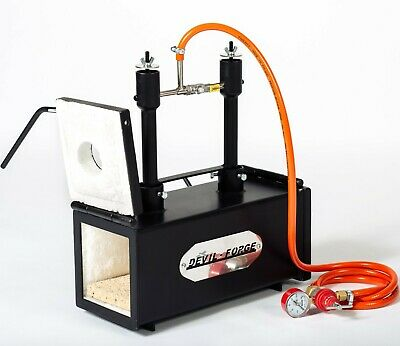 DFPROF2+2D GAS PROPANE FORGE Furnace Burner Knife Making Blacksmith Farrier