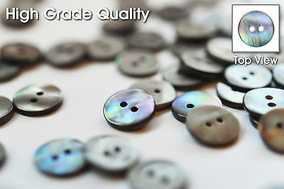 High Grade Grey Mother of Pearl Blouse Buttons(Pack of 20Pieces)ø12mm 2Holes