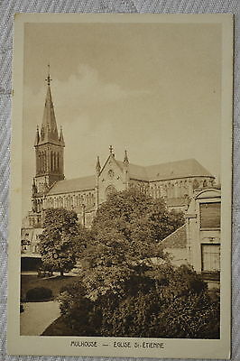 """CPA """" MULHOUSE - Eglise St Etienne"""