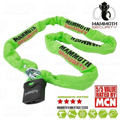 New Mammoth Security Heavy Duty Motorcycle Chain And Padlock 1.8M Security Lock