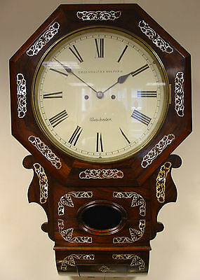 Superb Double Fusee Drop Dial, Rosewood Case, Circa 1850