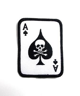 Ace Of Spades Vietnam Death Card Embroidered Military Patch Iron Sew AKPM178