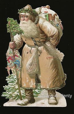 German Victorian Style Scrap Die Cut - Large Christmas Santa WOW  New for 2015