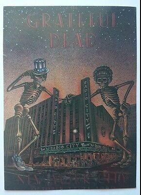 Grateful Dead 1980 Radio City Music Hall New York City Postcard MAKE US AN OFFER