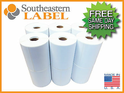 4x6 Direct thermal Zebra Eltron Labels 12 rolls 3,000 labels * FREE SHIPPING *