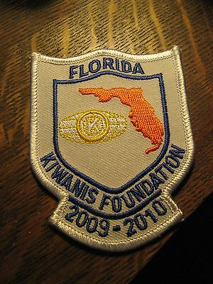 Florida State Kiwanis Foundation USA 2009 - 2010 Embroidered Jacket Hat Patch