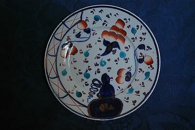 """Antique Early Victorian GAUDY WELSH """"Oyster"""" Pattern Plate  - c.1845  (3) #6000"""