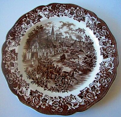 """Royal Staffordshire Stratford Stage 10 1/4"""" Platter Plate Brown Ironstone"""