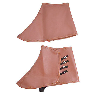 Brown Colour Steampunk #Gangsters Spats Fancy Dress Accessory