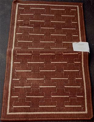 """Whole Home 19"""" x 33.8"""" Accent Rug - Brown - Stain Resistant  - BRAND NEW W/TAGS"""