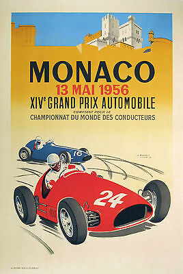 0248 Vintage Travel Poster Art Monaco