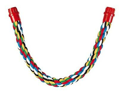 Multi Coloured Rope Perch Toy Flexible Bird Cage Perches for Parrots 75cm 5162