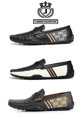 Mens Slip On Driving Shoes Casual Boat Deck Moccasin Italian Designer Loafers