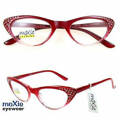 "READING GLASSES Women's RED CAT EYE ""Gypsy R207"" moXie NWT$29.99 +1.00~+2.75 HOT"