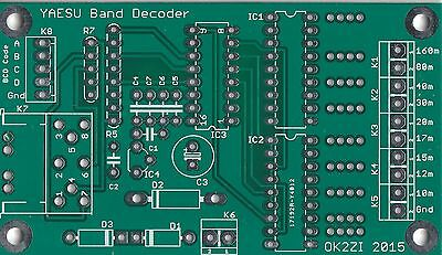 Automatic band decoder (YAESU,MK2R) leiterplatte PCB