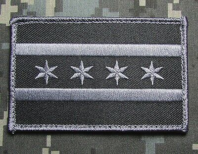 Chicago Illinois Flag Police Il Usa Swat Ops Law Enforcement Velcro® Brand Patch