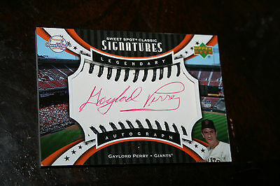 2007 Sweet Spot Classic Signatures GAYLORD PERRY Autograph HOF Auto 1/1