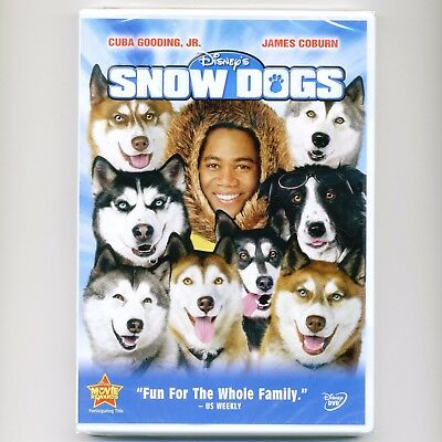 Disney SNOW DOGS family comedy PG movie, new DVD Alaska, Cuba Gooding Jr. Coburn