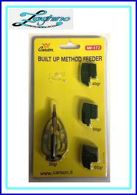 PASTURATORE METHOD FEEDER MF-172 PIOMBI INTERCAMBIABILI 30/40/50/60gr CARSON