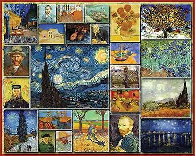 GREAT PAINTERS VINCENT VAN GOGH 1000 Piece Puzzle Old Classic Art Paintings NEW