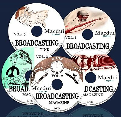 Broadcasting Vintage Magazine Collection 82 Volumes 5 DVD's,Silent Movie Reviews