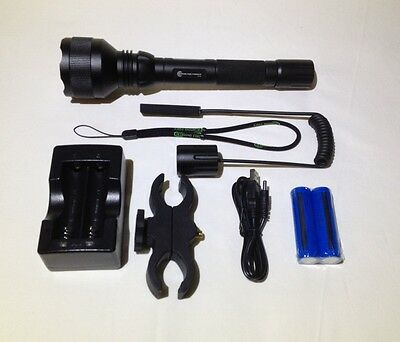 Torch Tactical Kit 1000LM CREE XML2-T6 LED USB charger Tail switch Mount Hunting