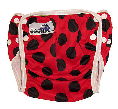 Swim Cloth Nappy - washable reuseable swimmer adjustable baby Toddler Lady Bird