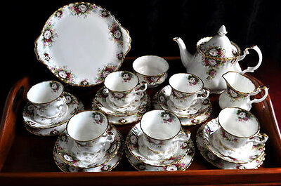 ROYAL ALBERT ' CELEBRATION ' TEA SET AND TABLEWARE - ENGLISH BONE CHINA