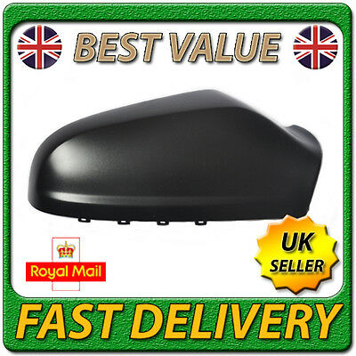 Right Driver Side  Black Wing Mirror Cover Casing Cap for VAUXHALL ASTRA H 04-09