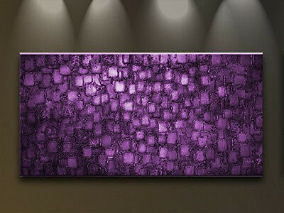huge oil paintings on canvas Rectangle purple Contemporary home decoration gift