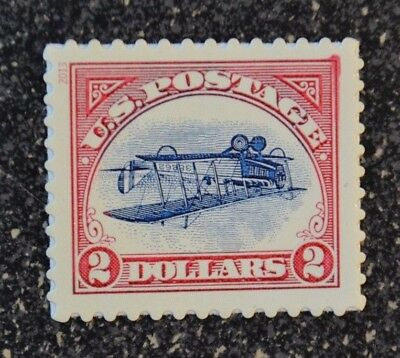 2013USA #4806a $2.00 - Inverted Curtiss Jenny Single Ink Bleed Variant Error