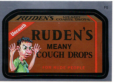 2010 WACKY PACKAGES ANS7 FOIL CARD **RUDEN'S** F5 ONLY 99 CENTS!! WOW!
