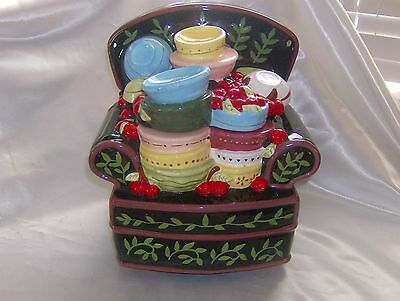MARY ENGELBREIT BOWL FULL OF CHERRIES COMFY CHAIR COOKIE JAR