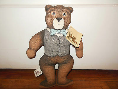 """Vintage Toy Works Dapper Teddy Bear Rare with Tags 12"""""""