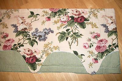 Waverly Home One Balloon Valance Floral Pink Green