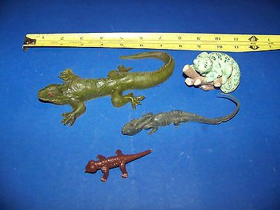 Lizards   (Mixed Lot #9)  Vintage 1980's -1990's  Collectable Toy Lizards