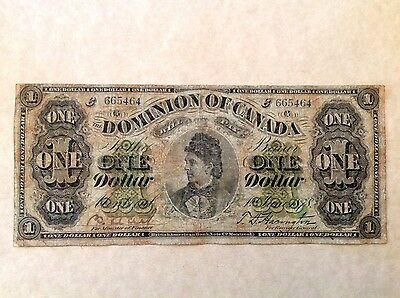 - 1878 Dominion of Canada one 1 dollar Countess of Dufferin -Payable at Montreal