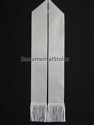 DIY 2 metre WHITE BLANK Stole Sash First Eucharist (Holy Communion) Confirmation