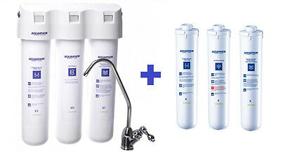 Aquaphor Crystal H - Undersink Drinking Water Filter + Replacement Filters Set