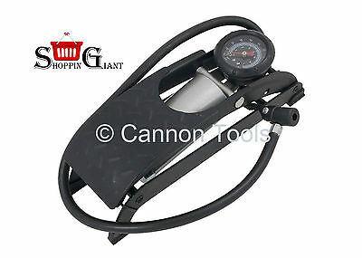 Footpump Single Dial Gauge High Pressure Heacy Duty Foot Car Pump Air CT1378