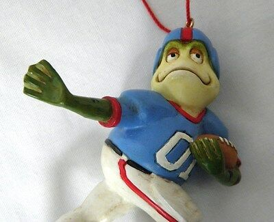 RARE Frog Football CHRISTMAS ORNAMENT Sports Toad NEW w/ Tag Midwest TOUCHDOWN!