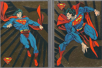 1992 Skybox DC Comics The Return of Superman Foil Cards SP1 and SP3