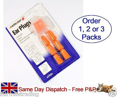 4 pairs Soft Moldable Foam Ear Plugs Sleeping Protector Travel Case Sound Block