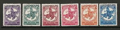 """LUXEMBOURG 1934 #259-264 mh """"HELP FOR CHILDREN - cv 160 - two scans"""" D229"""