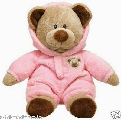 Ty Pluffies TEDDY BEAR PLUSH PINK PAJAMAS New w/ Tag SHOWER / BABY GIFT