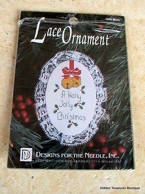 """Designs For The Needle """"Bells"""" #1228 Lace Ornament Counted Cross Stitch Kit"""