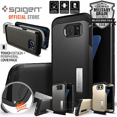 Galaxy S7 / S7 Edge Case,Genuine SPIGEN HEAVY DUTY TOUGH ARMOR Cover for Samsung