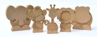 Free Standing Craft Shape. MDF Wooden 3d ZOO ANIMAL FAMILY.