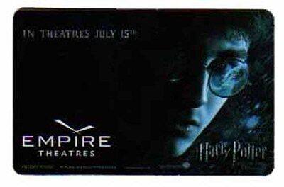 Empire Theatres HARRY POTTER collectible gift card