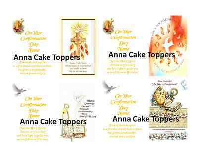 Personalised Confirmation Book-Shape Cake Toppers A4/A3 up to 16 inch.